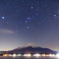 写真: 山中湖で見た星空