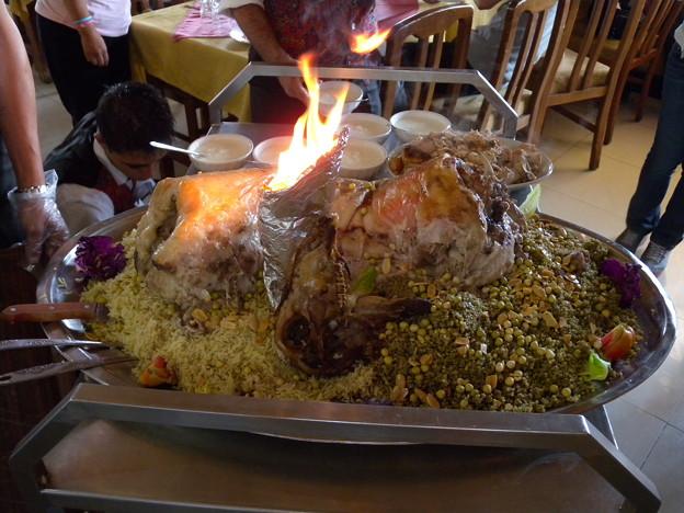 Syria マンサフ料理1