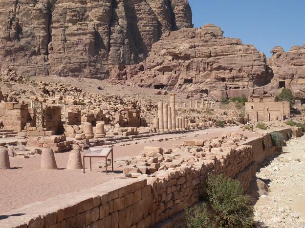 Jordan086ペトラ ローマ時代の列柱通り