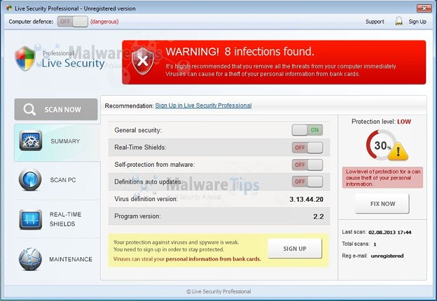 Photos: Live-Security-Professional-malware