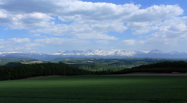 就実の丘、十勝岳連峰遠景