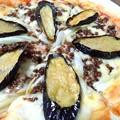 Photos: ナスと挽肉と白葱のピザ…