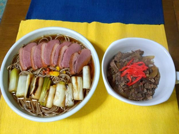 上鴨南蛮蕎麦&牛丼の小丼・・・