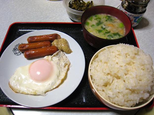 朝食・・・