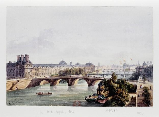 写真: Paris-PontRoyal-1850