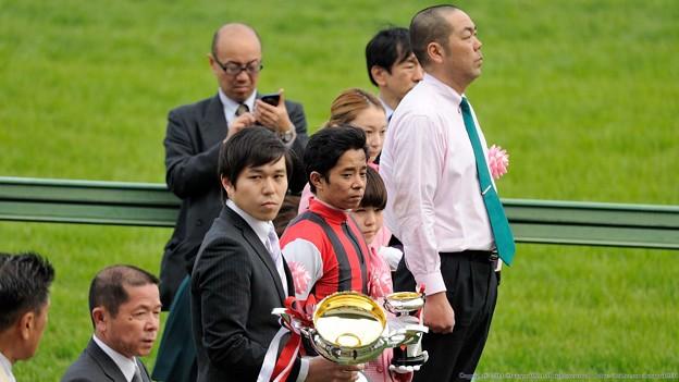 [140329中山11R日経賞]表彰式のみなさん