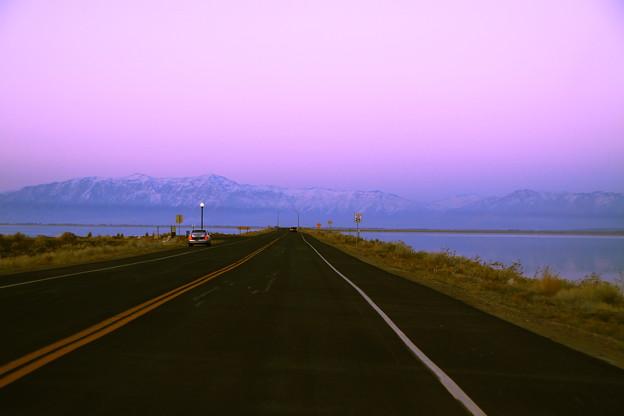 Antelope Island から見るWasatch Mountains