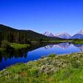 Teton Range とSnake Riverと青空♪