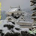 Photos: 雪の上山城