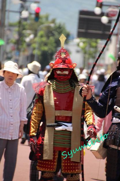 街で見かけた鎧武者