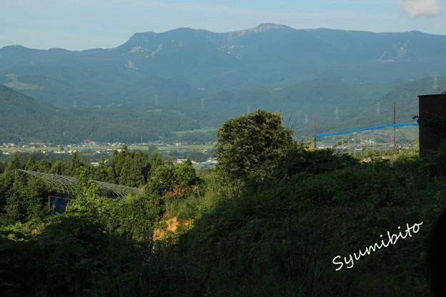 蔵王 上山市フルーツラインから望む