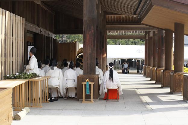 荘厳な出雲大社神迎祭