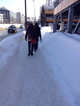 20140306雪が残る札幌