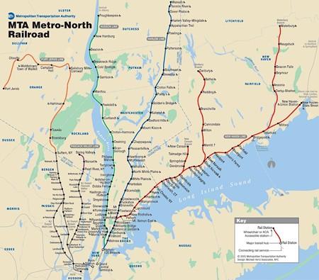 メトロノース鉄道 路線図