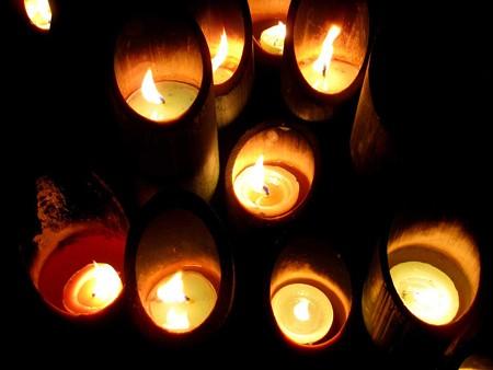 東遊園地にて1.17追悼の灯り