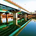 Photos: 川面のもみじ橋
