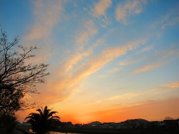 立春の朝日