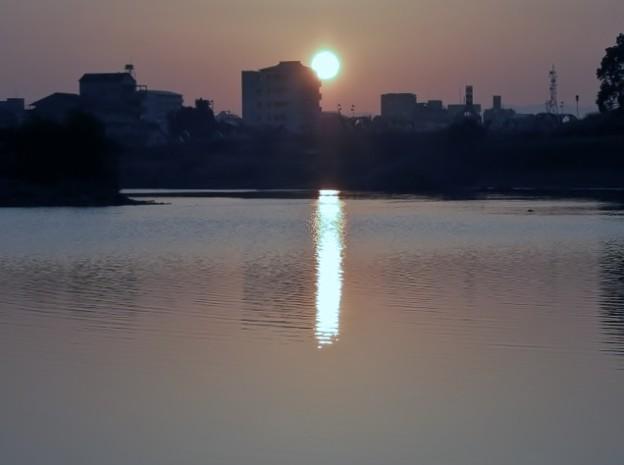 川面の陽影