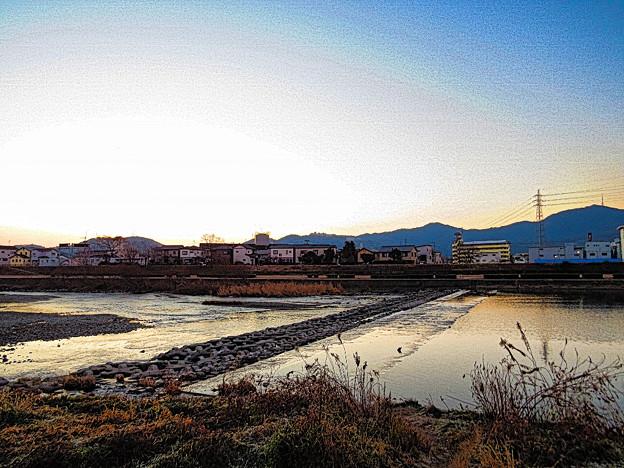 鏡川の朝空.7