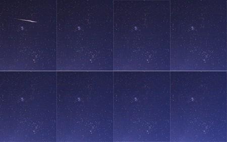 流星痕の変化