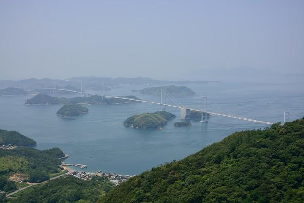亀老山からの来島大橋