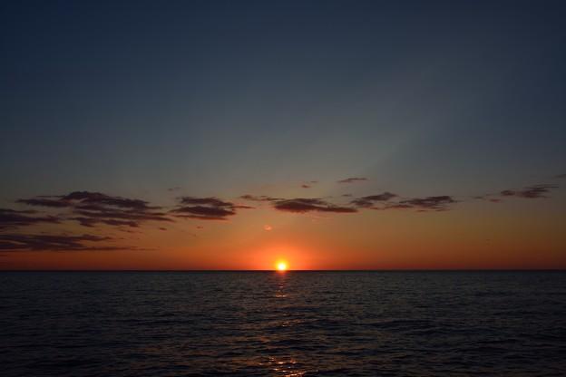 留萌から見る夕陽