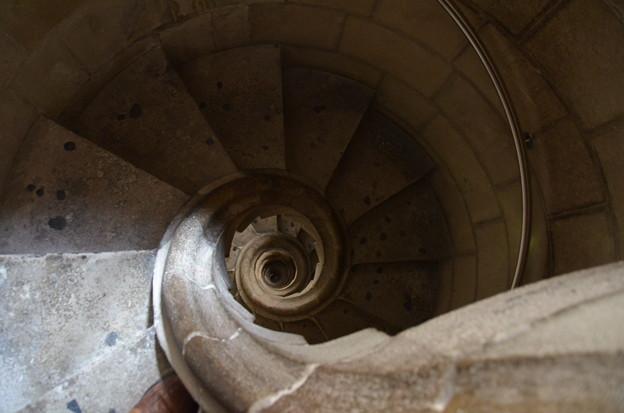 サグラダ・ファミリア、塔の階段