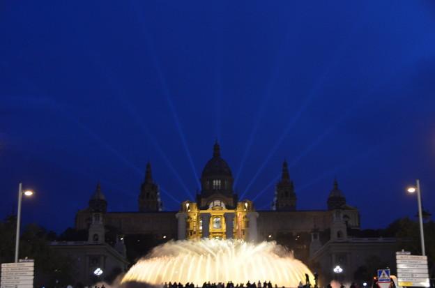 噴水ショーからカタルーニャ国立美術館