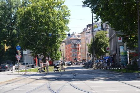 ミュンヘンの街中、割りとのどか