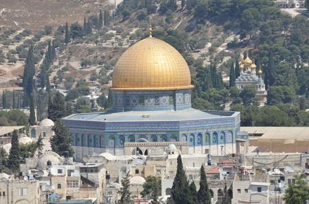 岩のドーム。エルサレムで一番目立つ