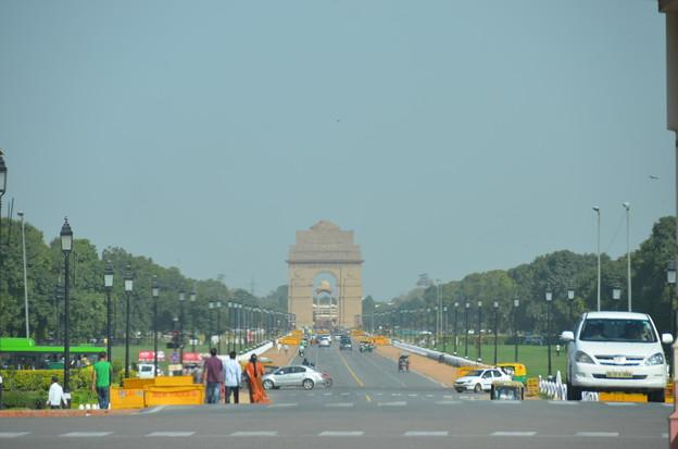 写真: インド門。凱旋門的な位置づけ?