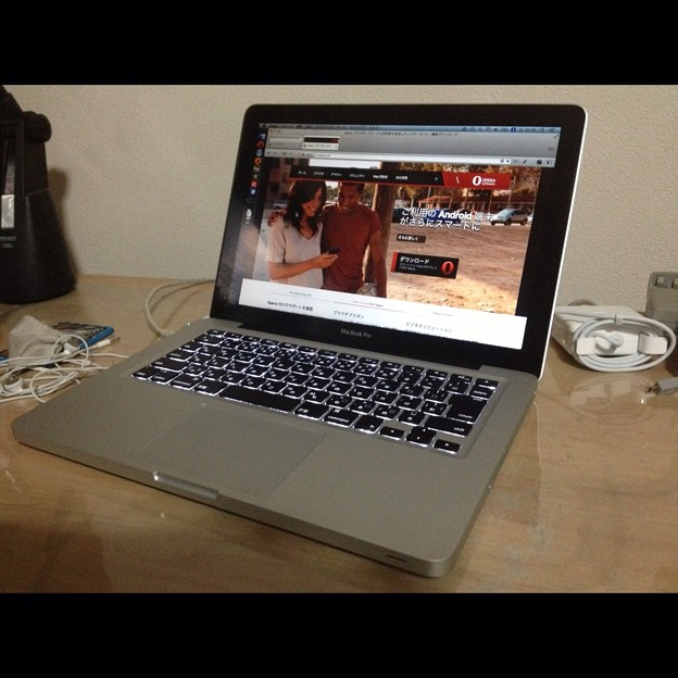 写真: MacBook ProでOpera