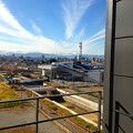 写真: 愛知大学 新名古屋キャンパスから見える景色:ささしまライブ駅 - 2