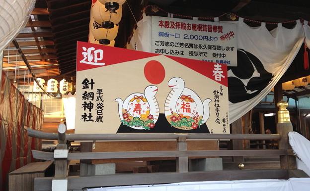 元旦の針綱神社 - 15:白蛇の絵馬