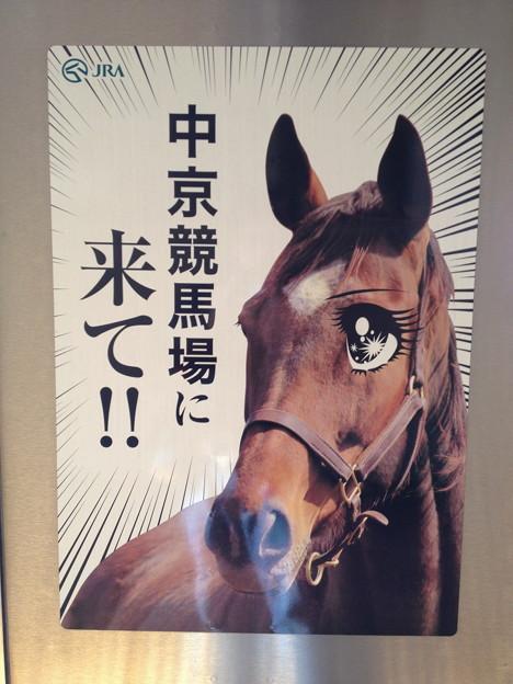 名鉄小牧線に貼ってあった中京競馬場のポスター