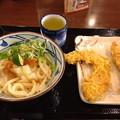丸亀製麺:おろしうどん と カボチャ・鶏肉の天ぷら