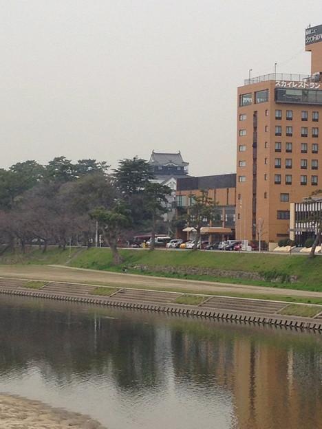 殿橋から見た岡崎城 - 2