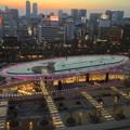 写真: 愛知芸術文化センター展望スペースから見た、夕暮れ時のオアシス21 - 2
