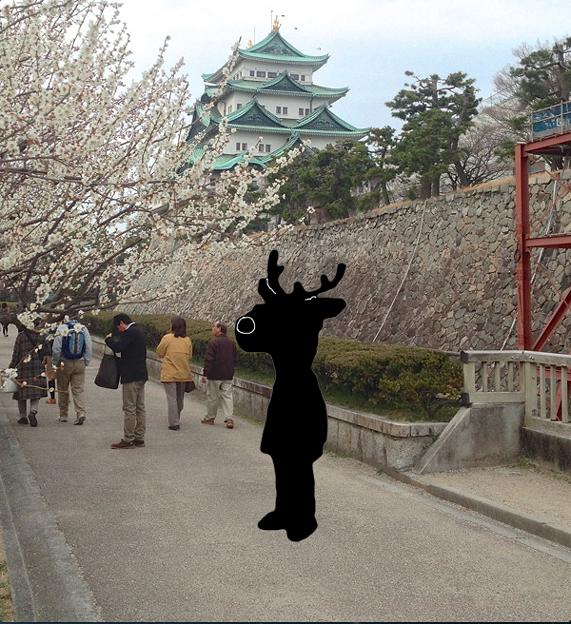 名古屋城に鹿キャラ案