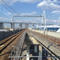 写真: あおなみ線 金城ふ頭駅 - 3:ホームから北側線路をのぞむ