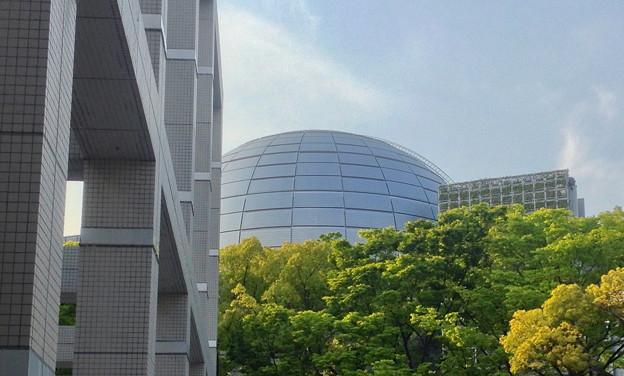 Photos: 名古屋市美術館から見た名古屋市科学館ブラザーアースの頭頂部 - 3
