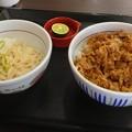 なか卯:和風牛丼(並)と すだちうどん(小)