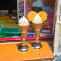 新アジアゾウ舎前の売店の「ゾウさんの生乳ソフトクリーム」 - 3(見本)