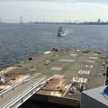ポートビル前の人口島に着岸しようとしている名古屋港遊覧船 - 1