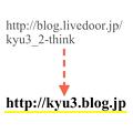 写真: ブログのURLを変更 - 1
