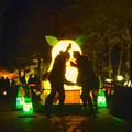 写真: 東山植物園 紅葉ライトアップ 2013 No - 118:「ズーボ」のイルミネーション前で写真を撮るカップル