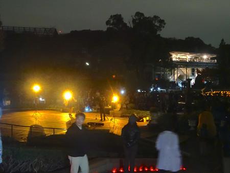 東山植物園 紅葉ライトアップ 2013:フラワーステージ前での野外コンサート No - 1