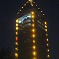 写真: スカイタワー前駐車場から見上げた、夜の東山スカイタワー - 5