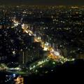 写真: 東山スカイタワーから見た夜景 No - 21:広小路通(東山公園駅前)
