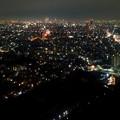 写真: 東山スカイタワーから見た夜景 No - 46:広小路通と名駅・栄方面